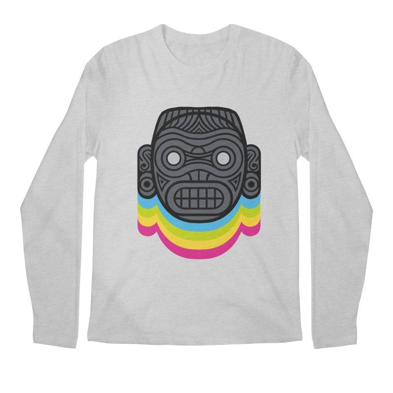Taino mystic mask Men's Regular Longsleeve T-Shirt by MadKobra