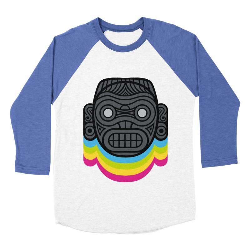 Taino mystic mask Women's Baseball Triblend Longsleeve T-Shirt by MadKobra