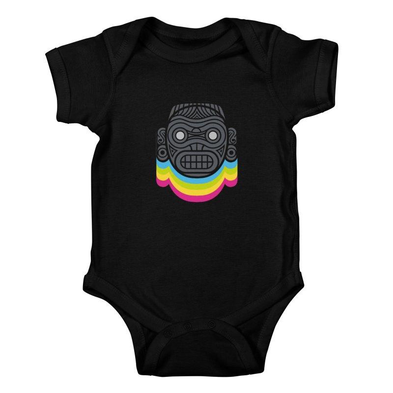 Taino mystic mask Kids Baby Bodysuit by MadKobra
