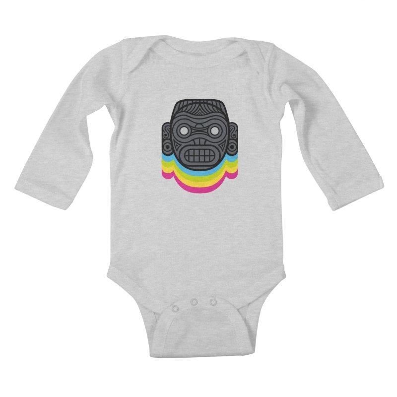 Taino mystic mask Kids Baby Longsleeve Bodysuit by MadKobra