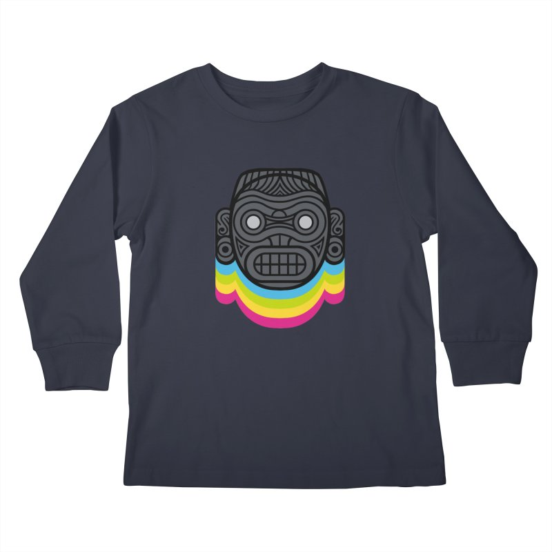 Taino mystic mask Kids Longsleeve T-Shirt by MadKobra