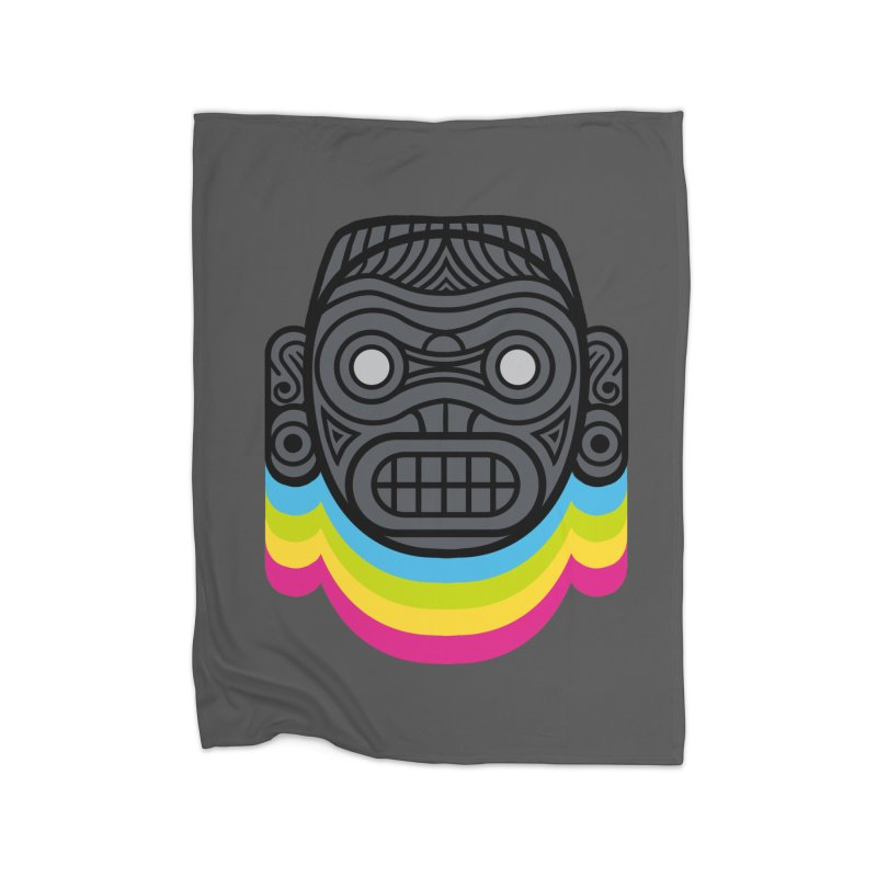 Taino mystic mask Home Fleece Blanket Blanket by MadKobra