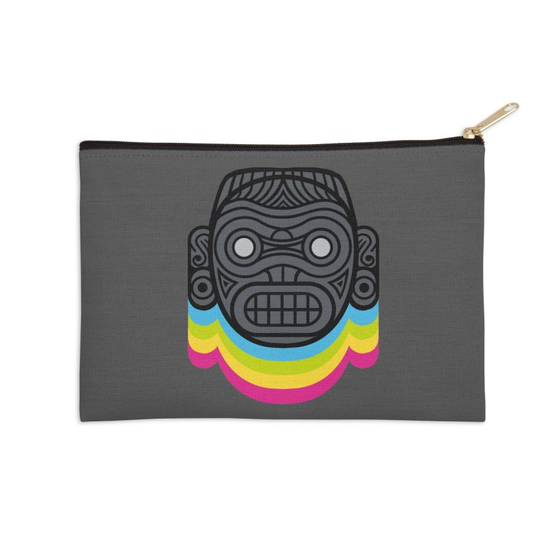 Taino mystic mask Accessories Zip Pouch by MadKobra