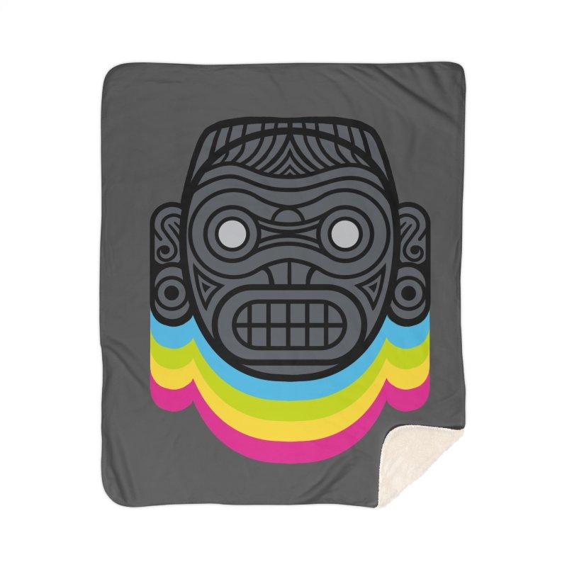 Taino mystic mask Home Sherpa Blanket Blanket by MadKobra