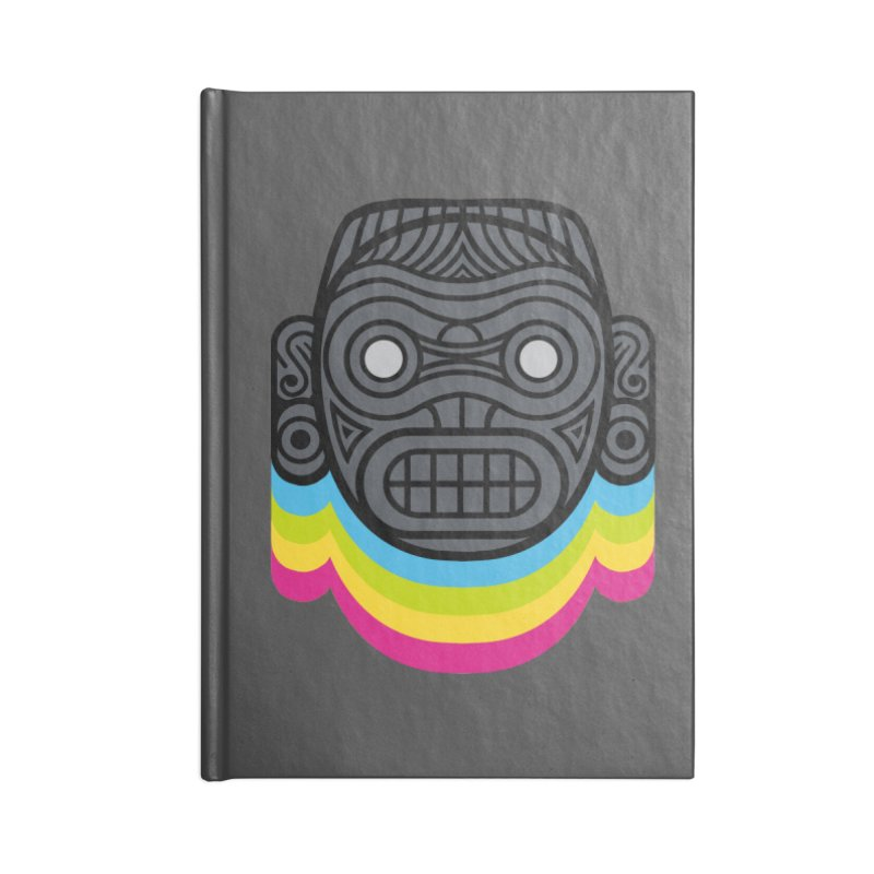 Taino mystic mask Accessories Lined Journal Notebook by MadKobra