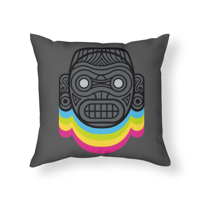 Taino mystic mask Home Throw Pillow by MadKobra