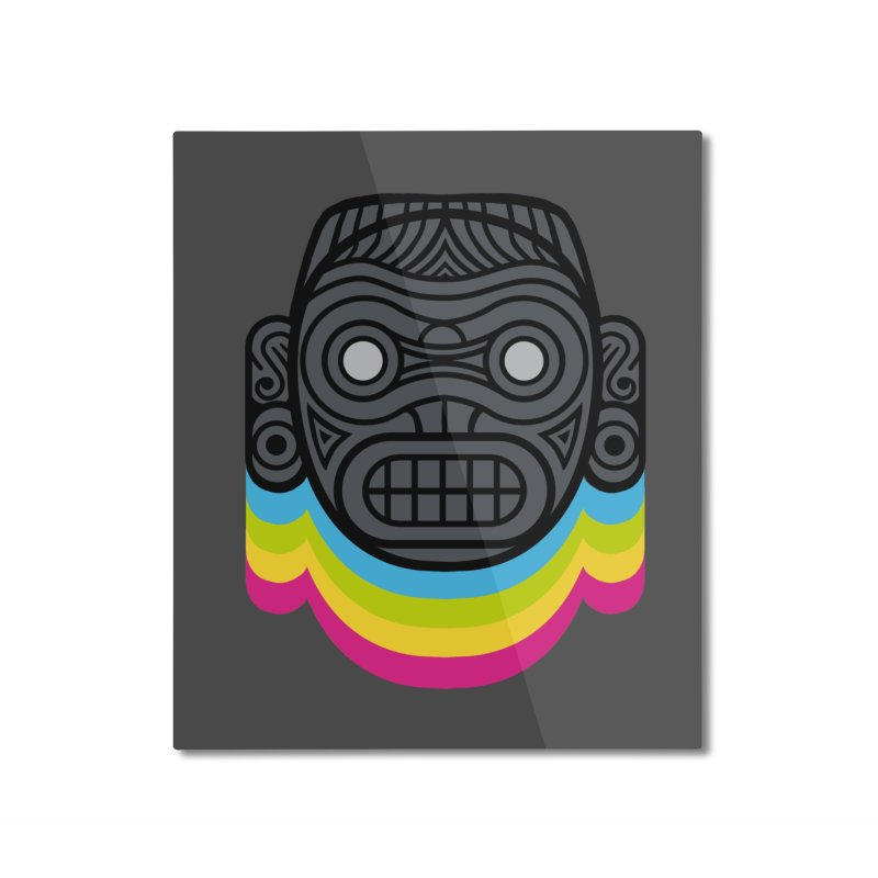 Taino mystic mask Home Mounted Aluminum Print by MadKobra