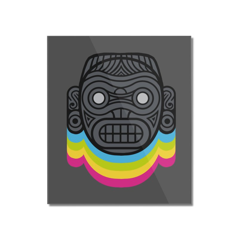 Taino mystic mask Home Mounted Acrylic Print by MadKobra