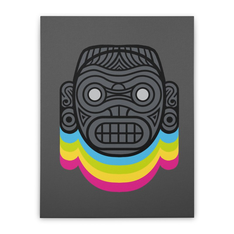Taino mystic mask Home Stretched Canvas by MadKobra