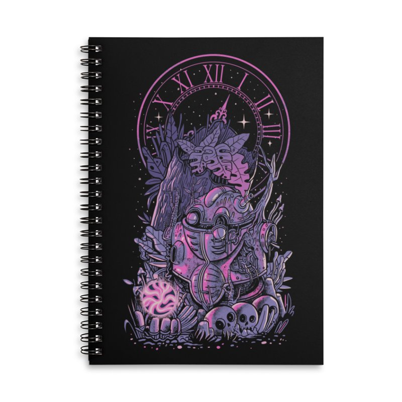 Corridors of Time Accessories Lined Spiral Notebook by MadKobra