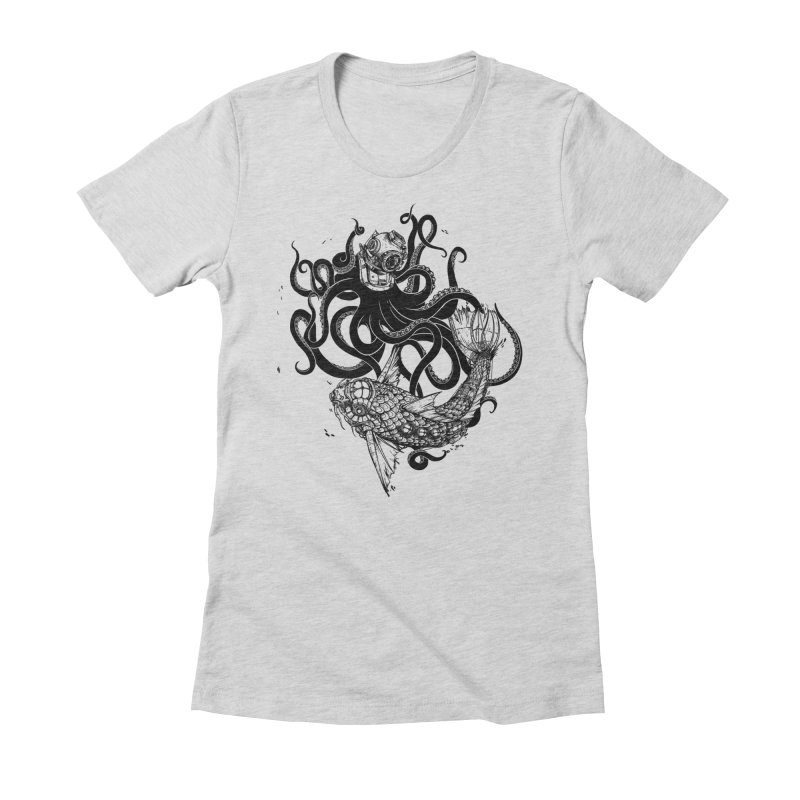 Into the Abyss Women's Fitted T-Shirt by MadKobra