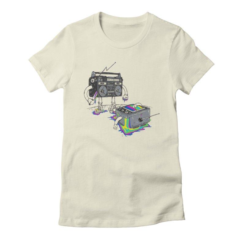 Revenge of the Radio Star Women's Fitted T-Shirt by MadKobra