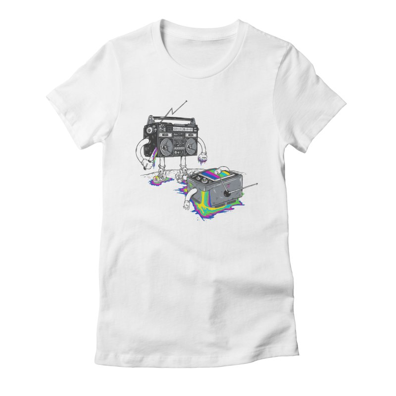 Revenge of the Radio Star Women's Fitted T-Shirt by MadKobra