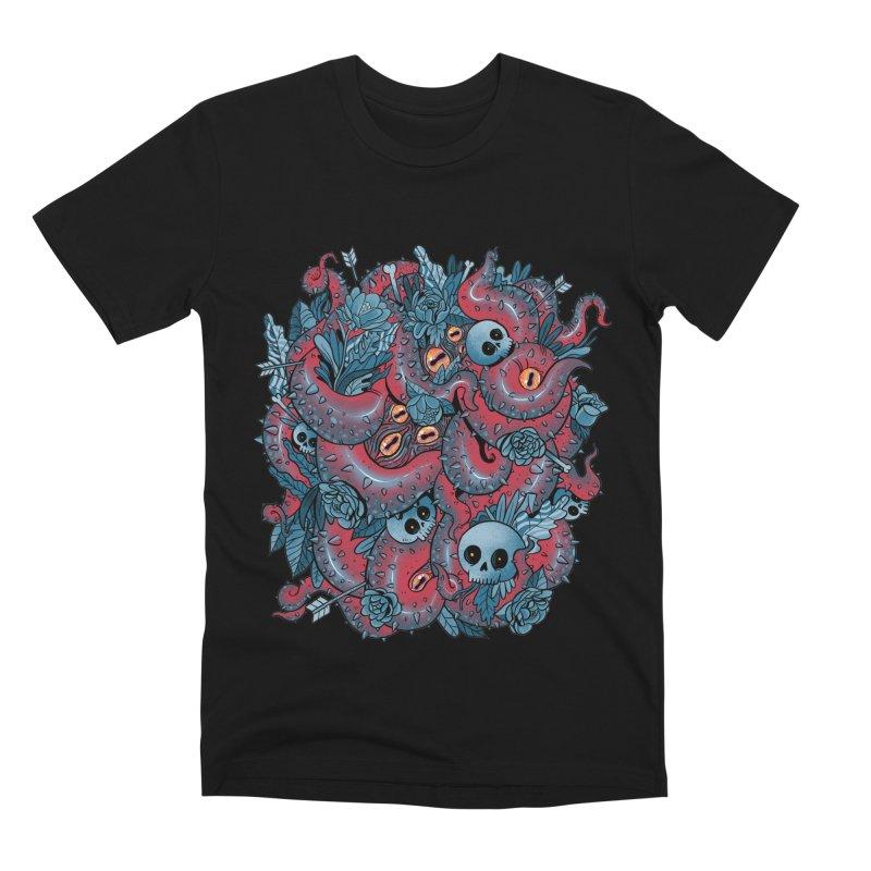 Bone & Roses Men's Premium T-Shirt by MadKobra