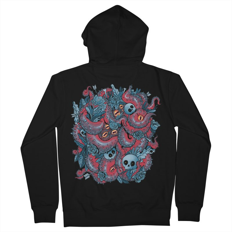 Bone & Roses Men's French Terry Zip-Up Hoody by MadKobra