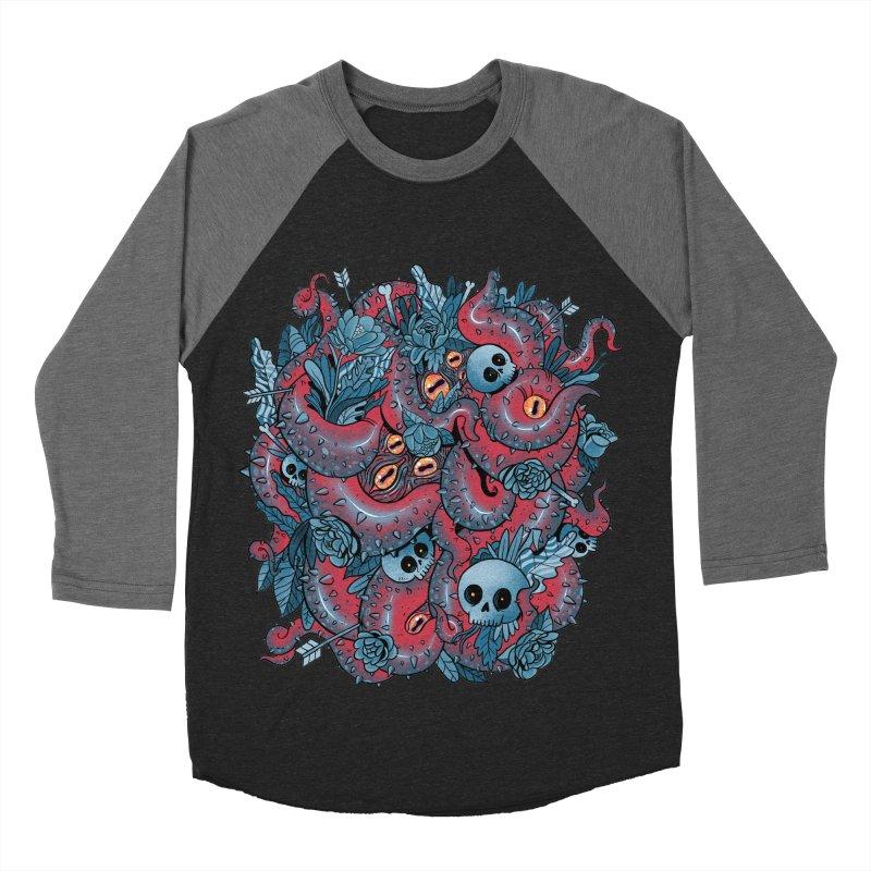 Bone & Roses Men's Baseball Triblend Longsleeve T-Shirt by MadKobra