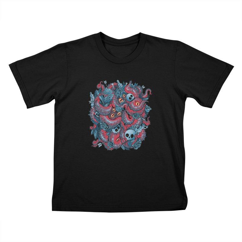 Bone & Roses Kids T-Shirt by MadKobra