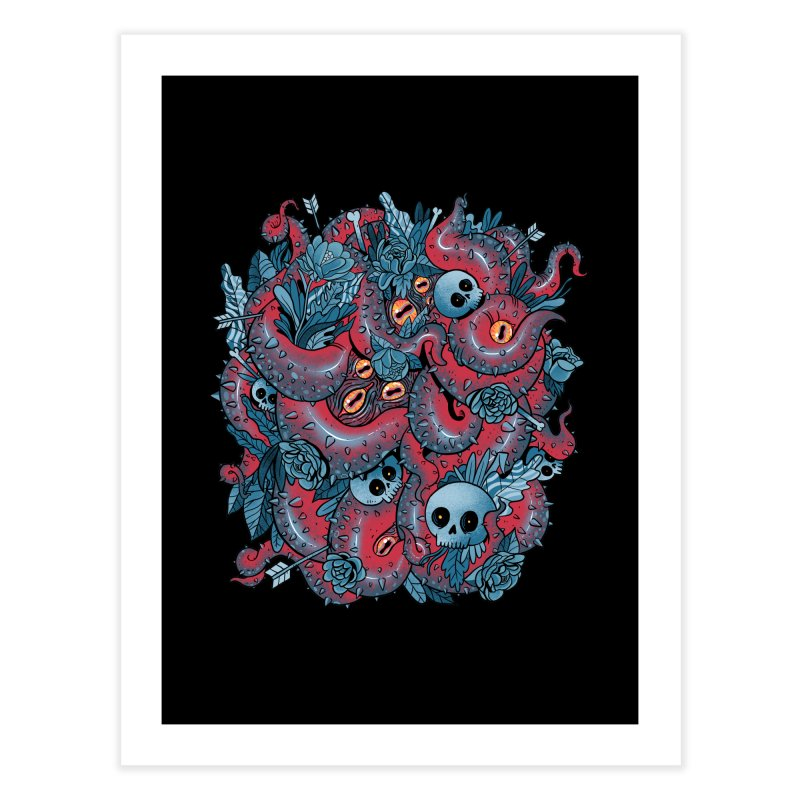 Bone & Roses Home Fine Art Print by MadKobra