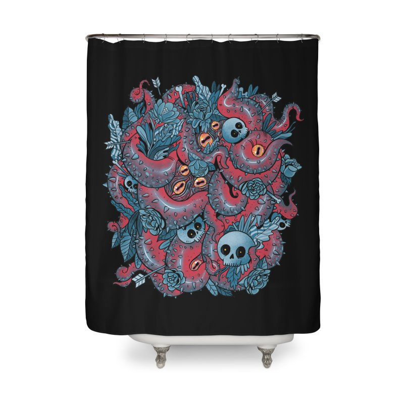 Bone & Roses Home Shower Curtain by MadKobra