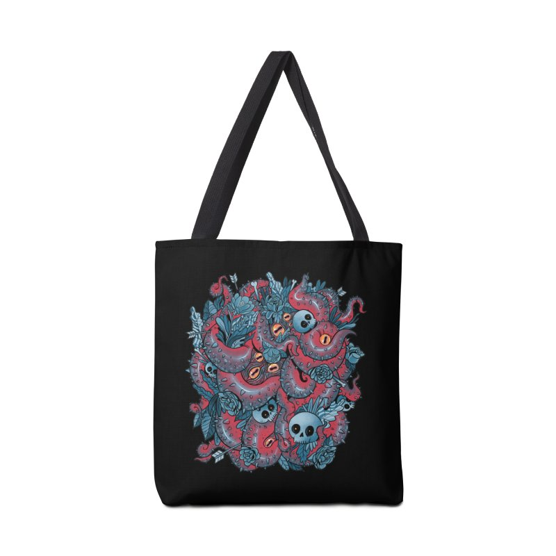 Bone & Roses Accessories Tote Bag Bag by MadKobra