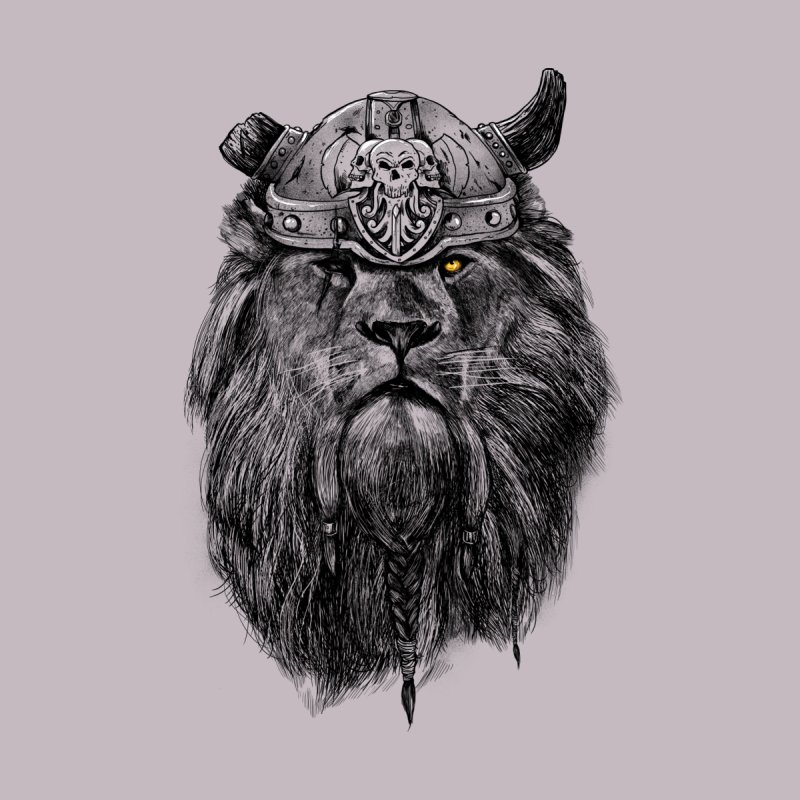 The Eye of the Lion Viking Women's Fitted T-Shirt by MadKobra