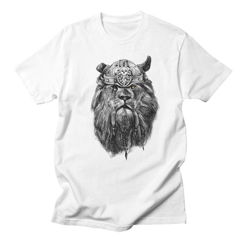 The Eye of the Lion Viking Men's Regular T-Shirt by MadKobra
