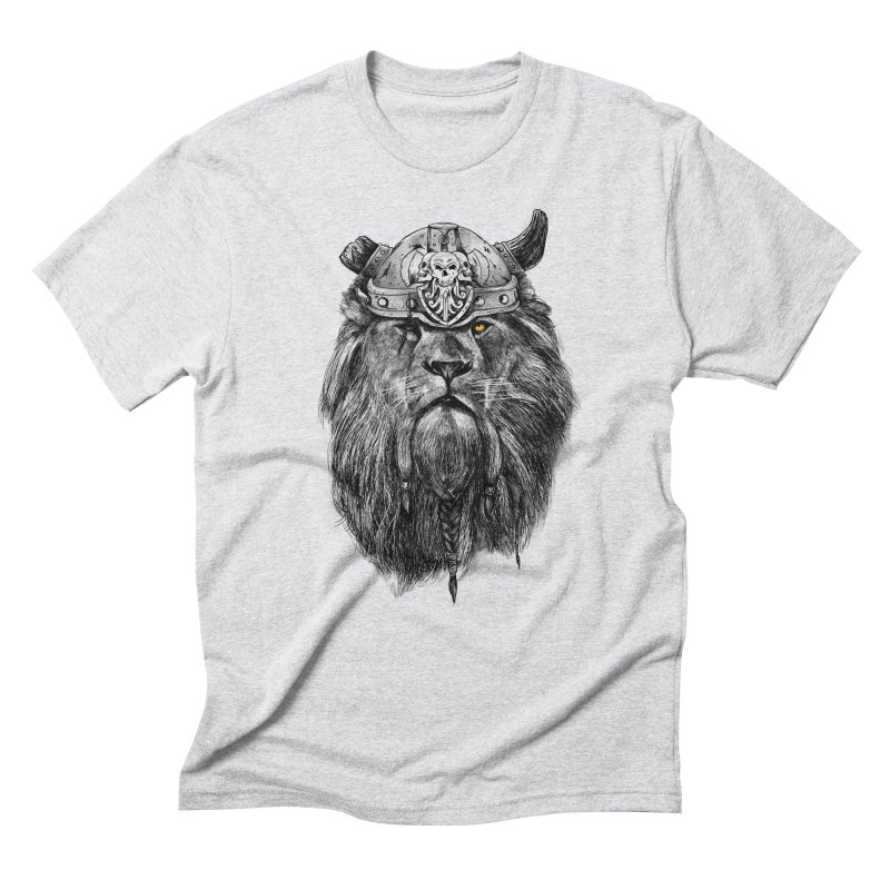 The Eye of the Lion Viking Men's Triblend T-Shirt by MadKobra