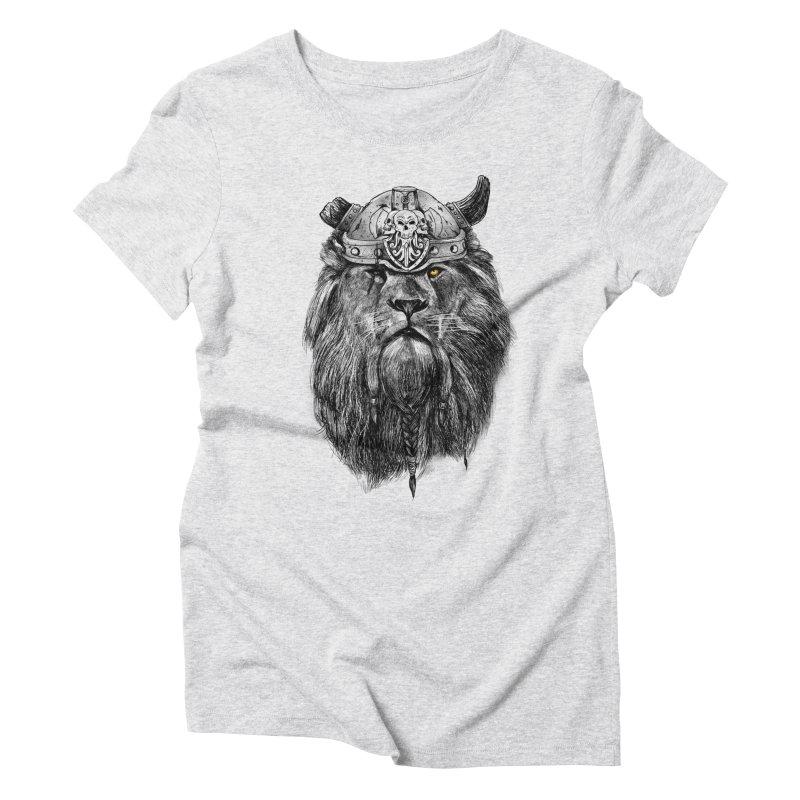 The Eye of the Lion Viking Women's Triblend T-Shirt by MadKobra