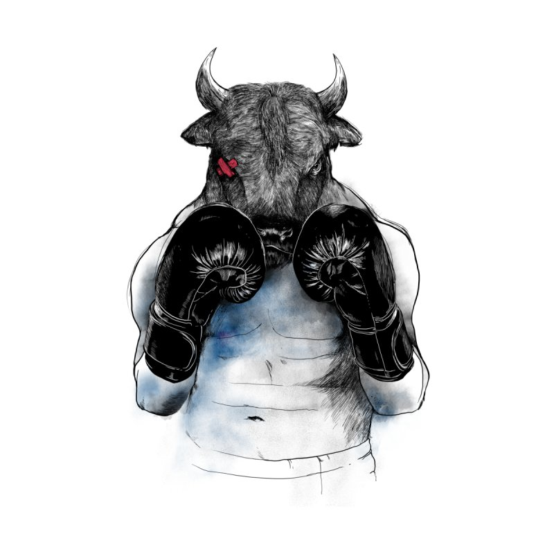 The Eye of the Raging Bull Men's T-shirt by MadKobra