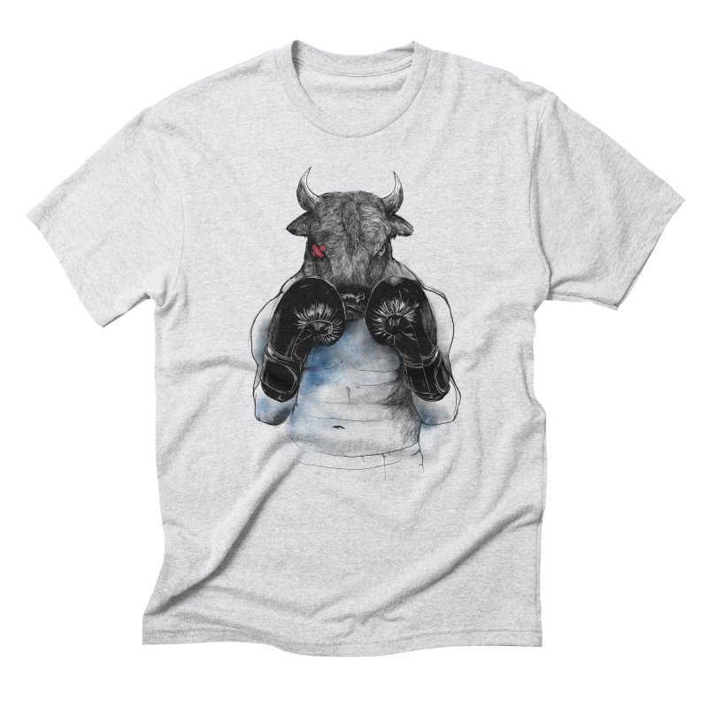 The Eye of the Raging Bull Men's Triblend T-Shirt by MadKobra