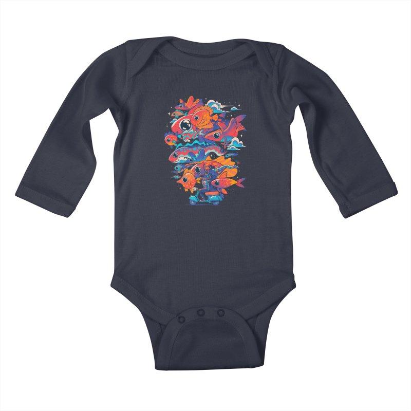 Let's get lost Kids Baby Longsleeve Bodysuit by MadKobra