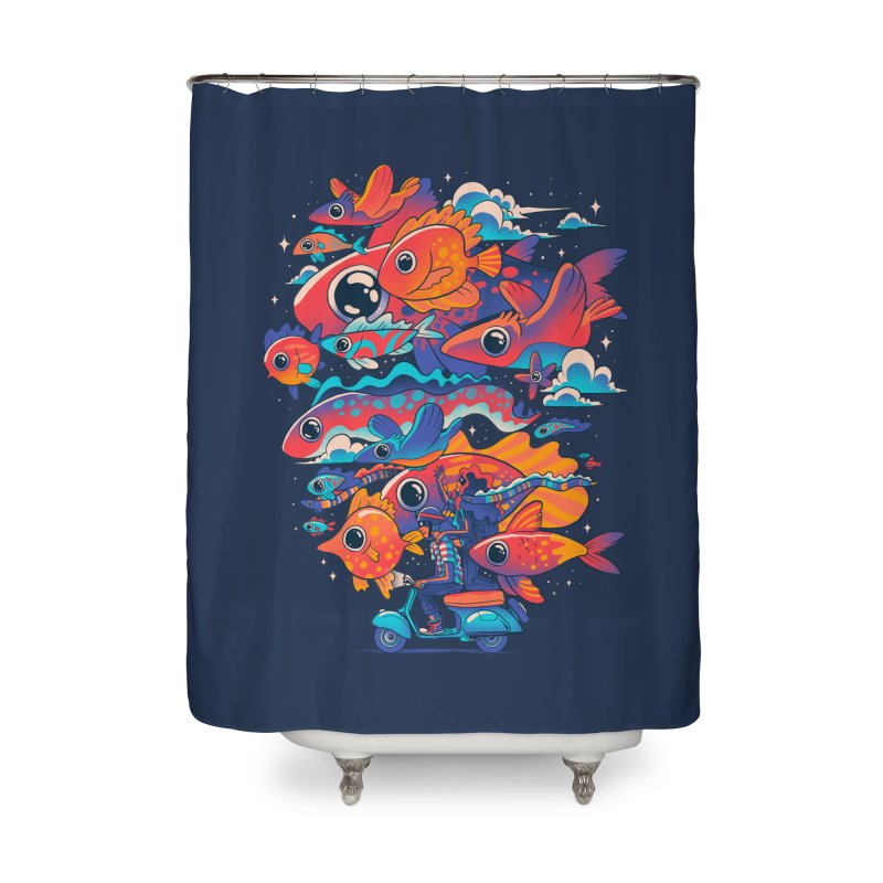 Let's get lost Home Shower Curtain by MadKobra