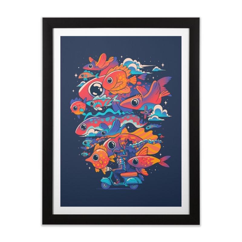Let's get lost Home Framed Fine Art Print by MadKobra