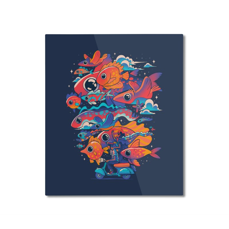 Let's get lost Home Mounted Aluminum Print by MadKobra