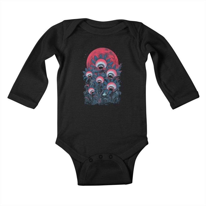 Lurking Forest Kids Baby Longsleeve Bodysuit by MadKobra