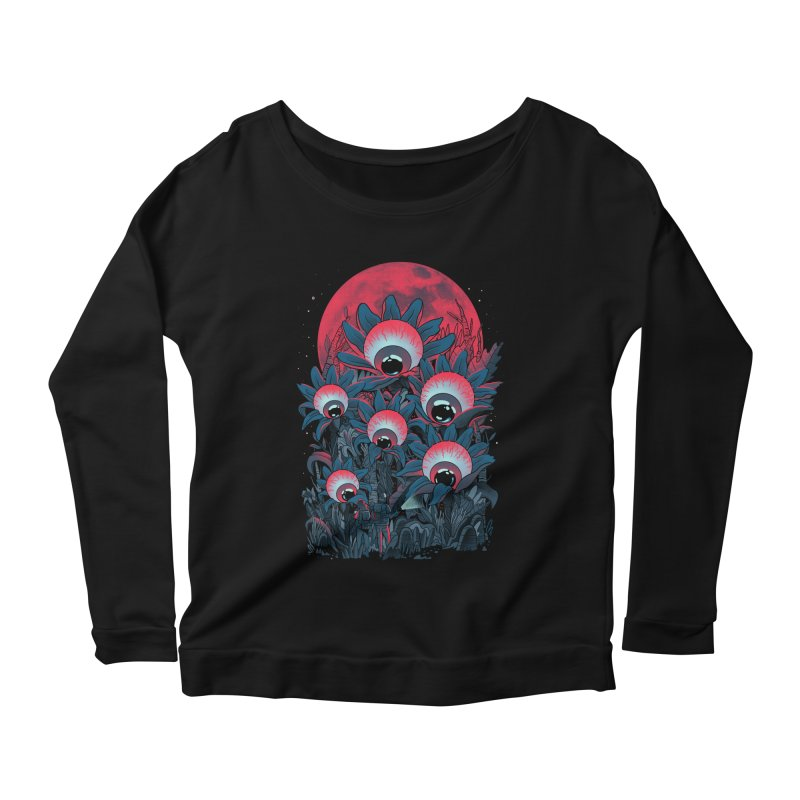 Lurking Forest Women's Scoop Neck Longsleeve T-Shirt by MadKobra