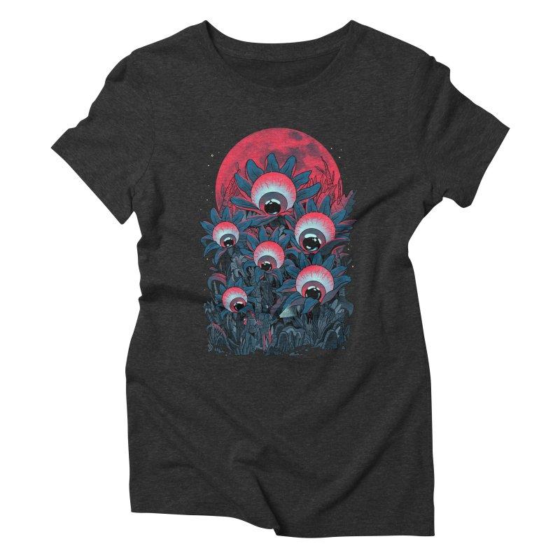 Lurking Forest Women's Triblend T-Shirt by MadKobra