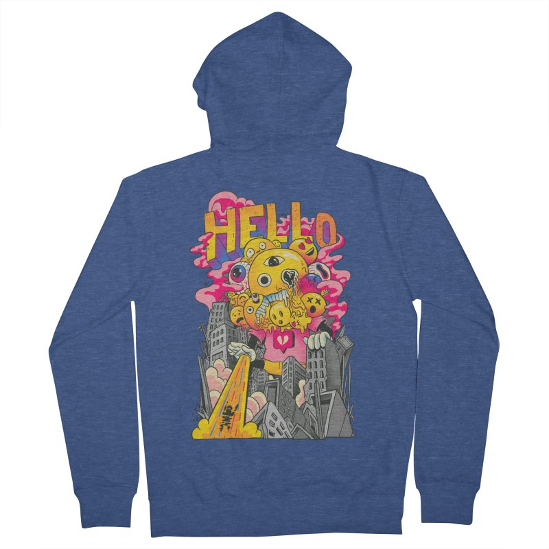 social issues Men's French Terry Zip-Up Hoody by MadKobra