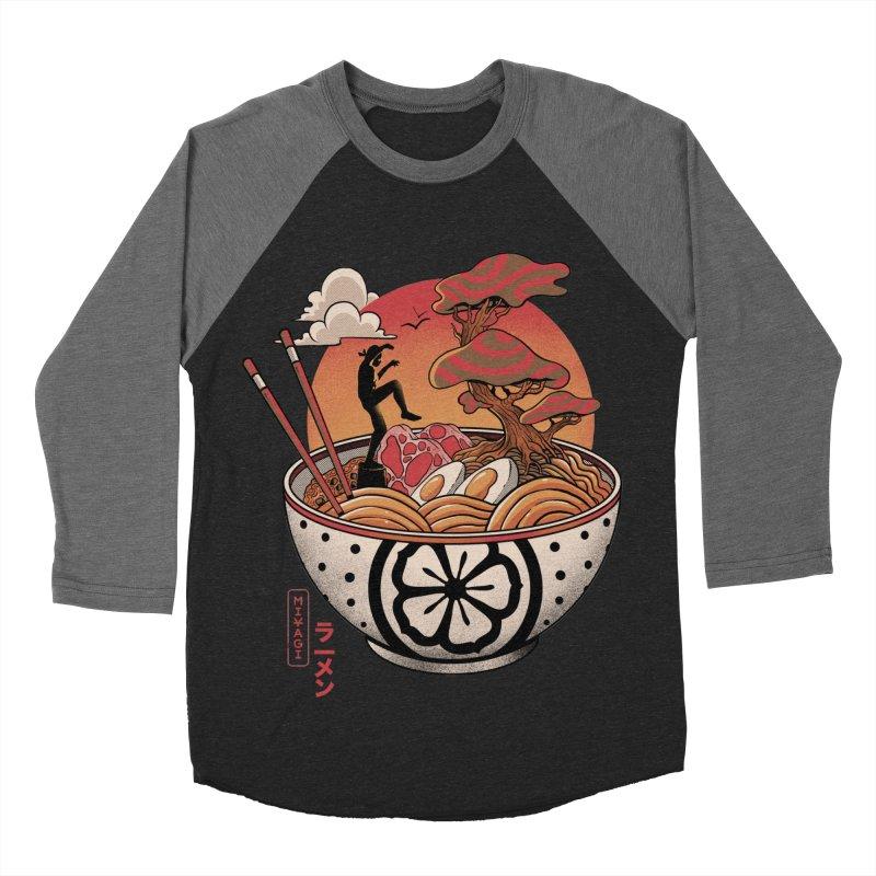 Miyagi Ramen Men's Baseball Triblend Longsleeve T-Shirt by MadKobra