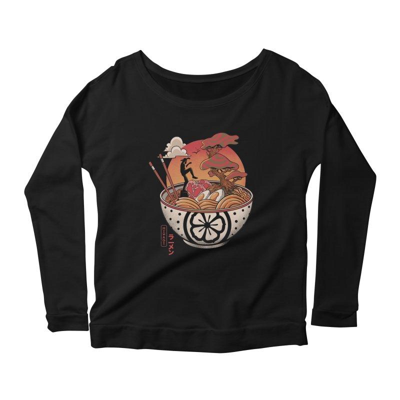 Miyagi Ramen Women's Scoop Neck Longsleeve T-Shirt by MadKobra
