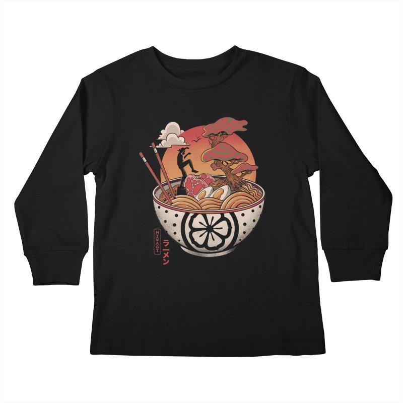 Miyagi Ramen Kids Longsleeve T-Shirt by MadKobra