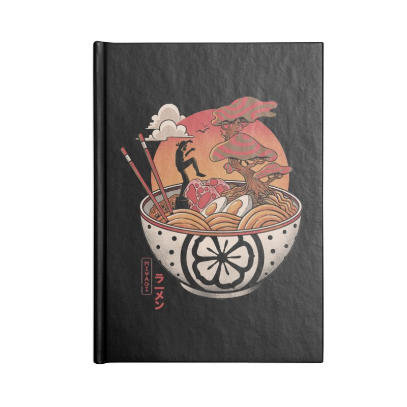 Miyagi Ramen Accessories Lined Journal Notebook by MadKobra