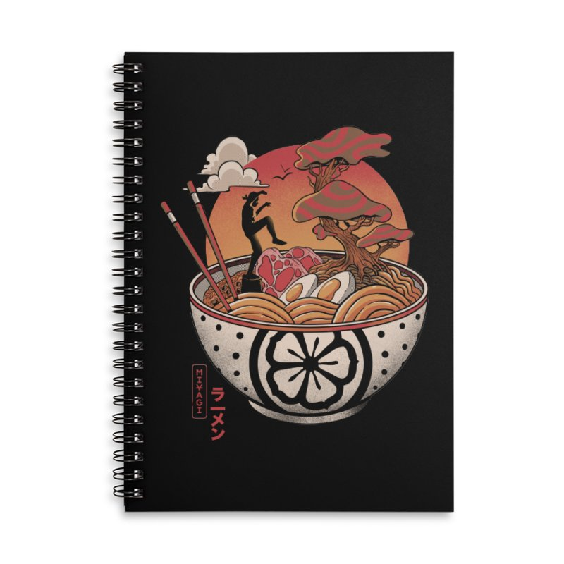 Miyagi Ramen Accessories Lined Spiral Notebook by MadKobra