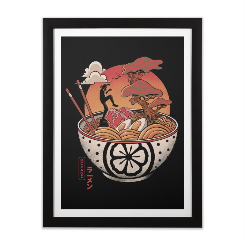 Miyagi Ramen Home Framed Fine Art Print by MadKobra