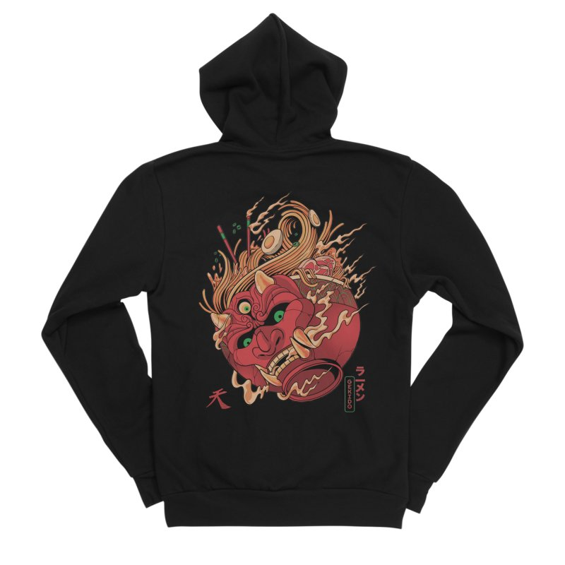Gekido Ramen Men's Zip-Up Hoody by MadKobra