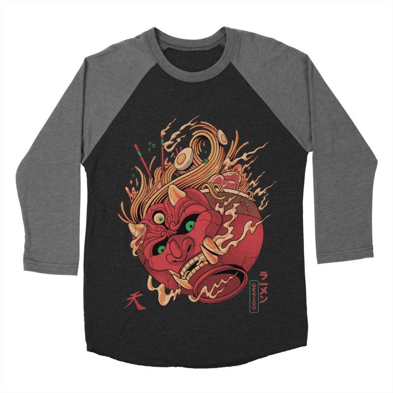 Gekido Ramen Men's Baseball Triblend Longsleeve T-Shirt by MadKobra
