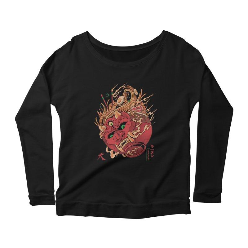 Gekido Ramen Women's Scoop Neck Longsleeve T-Shirt by MadKobra