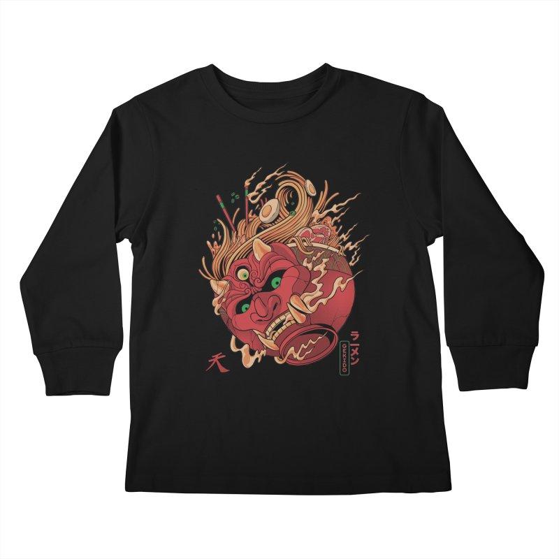 Gekido Ramen Kids Longsleeve T-Shirt by MadKobra