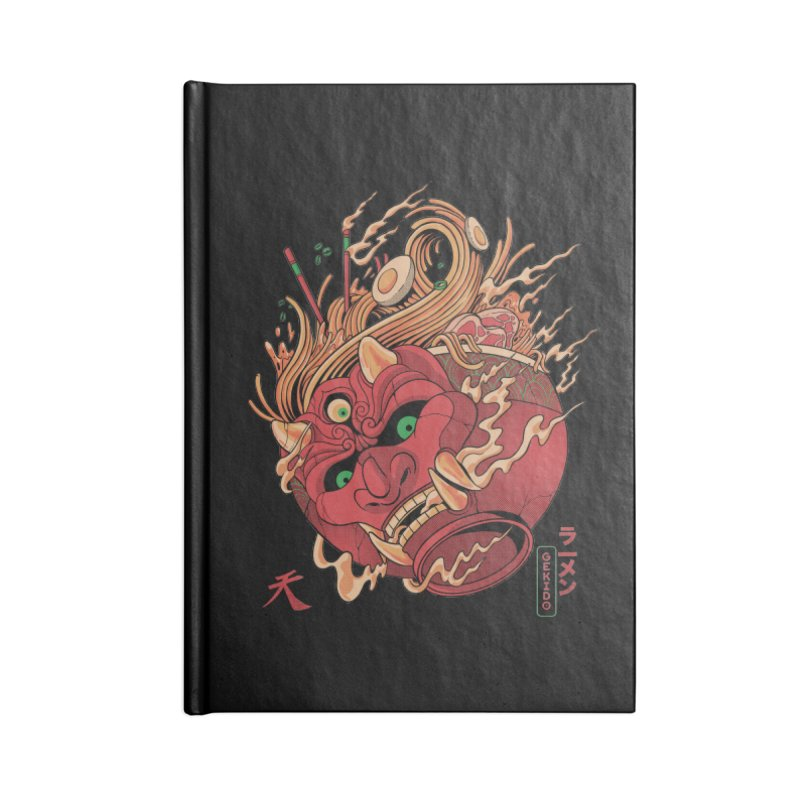 Gekido Ramen Accessories Lined Journal Notebook by MadKobra