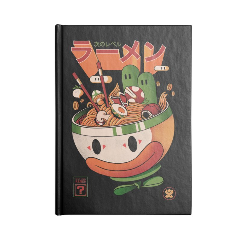 Next Level Ramen Accessories Lined Journal Notebook by MadKobra